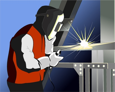 welder at work Stock Vector - 10318143