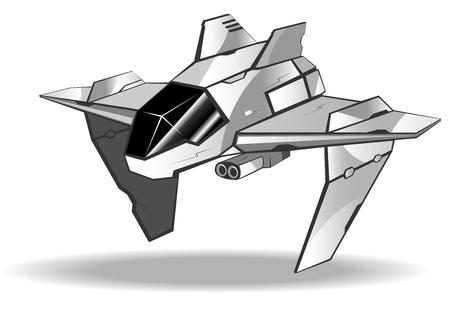 interceptor: vector illustration of futuristic spaceship.vector 6 Illustration