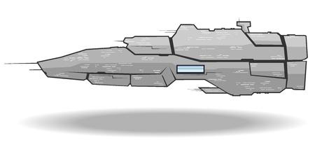 vector illustration of futuristic spaceship.vector 3