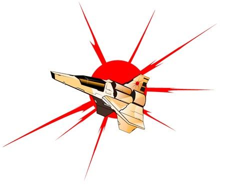 vector illustration of futuristic spaceship.vector 2