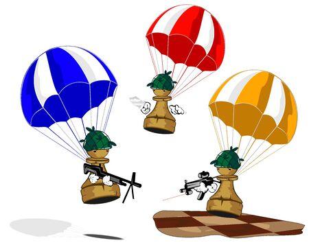 pawn: pawn commando Illustration