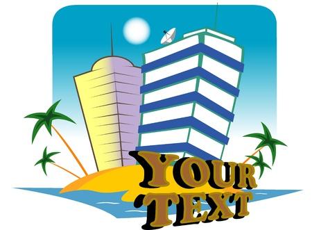 resort island. Stock Vector - 11670175