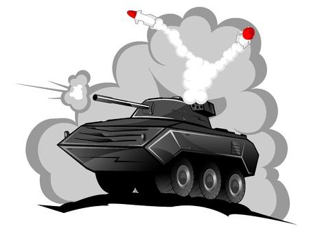 battle tank: battle tank in action.