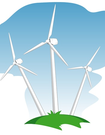 wind mill power generators Stock Vector - 11670171