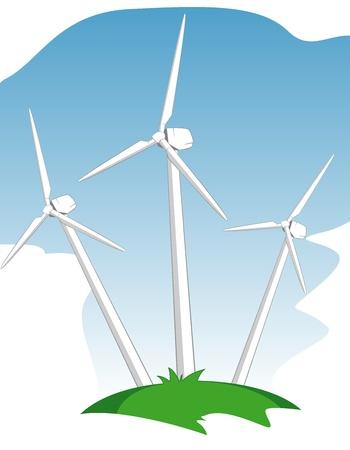 electric turbine: wind mill power generators