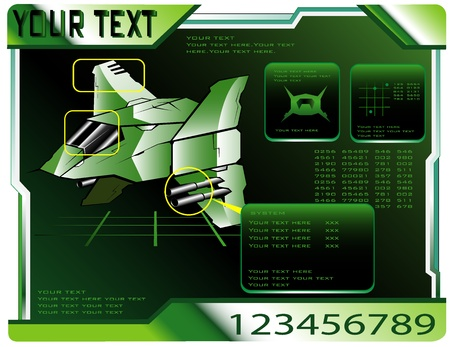 spaceship technical data.  Vector