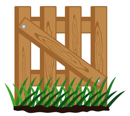 illustration of fence Vector