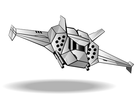 interceptor: illustration of futuristic spaceship