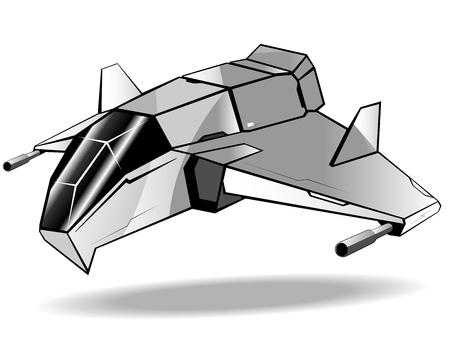 illustration of futuristic spaceship