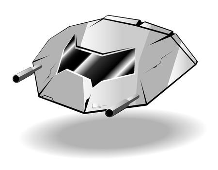 illustration of futuristic spaceship Stock Vector - 12056237