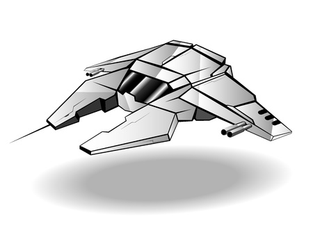 futuristic spaceship.  Vector