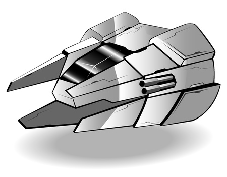 futuristic spaceship  Vector