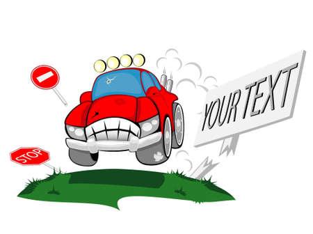 car the monster Stock Vector - 12862341
