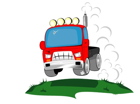 race car driver: truck the monster Illustration
