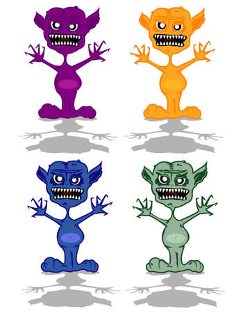 set of monsters Stock Vector - 12862349