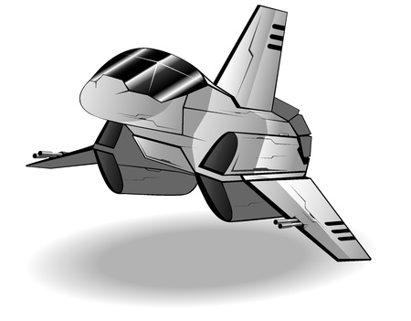vector illustration of futuristic spaceship Illustration