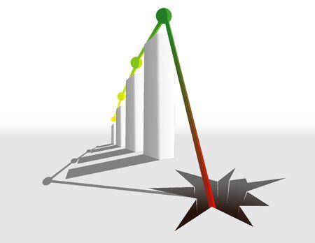 business graph illustration Vector
