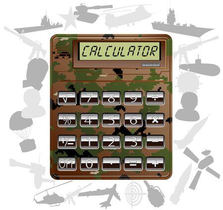 military electronic calculator  vector illustration 2 Stock Vector - 13214697