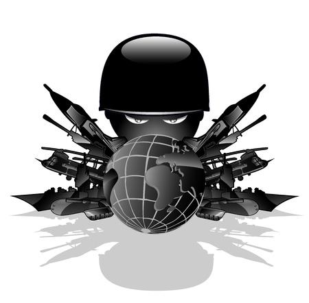 military threat  vector illustration 2 Stock Vector - 13214701