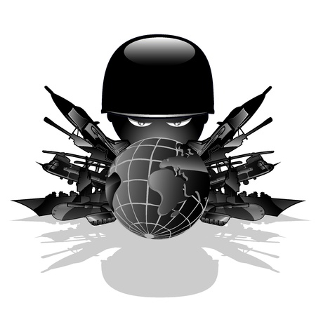 explosives: military threat  vector illustration 2 Illustration