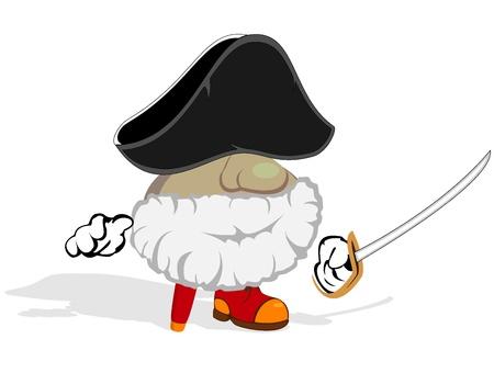 cartoon pirate  vector illustration 2 Vector