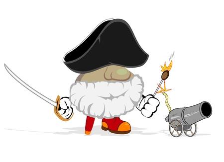 cartoon pirate  vector illustration Stock Vector - 13251814