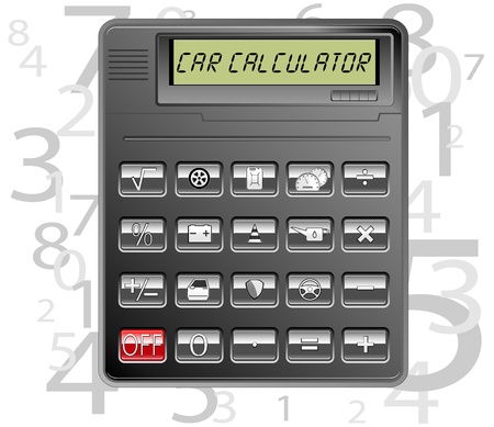 car electronic calculator  vector illustration Vector
