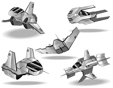 celestial: set of futuristic interceptors