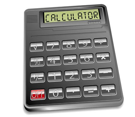 vector electronic calculator Stock Vector - 14554391