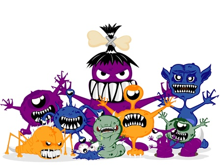 monsters   illustration Vector