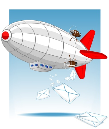 delivers: zeppelin delivers mail  Vector 2