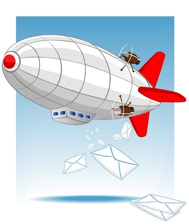 blimps: zeppelin delivers mail  Vector 2