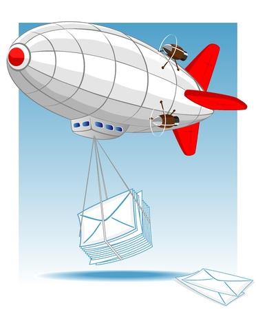 blimps: zeppelin delivers mail