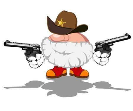 illustration of armed sheriff Stock Vector - 14787131
