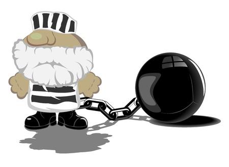 vector illustration of prisoner Illustration
