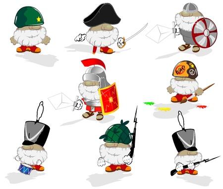 roman empire: set of funny cartoon heroes Illustration