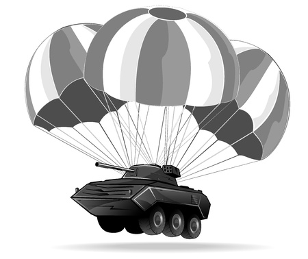 dropping of military vehicle Stock Vector - 15659208