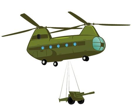 military cargo transport  illustration