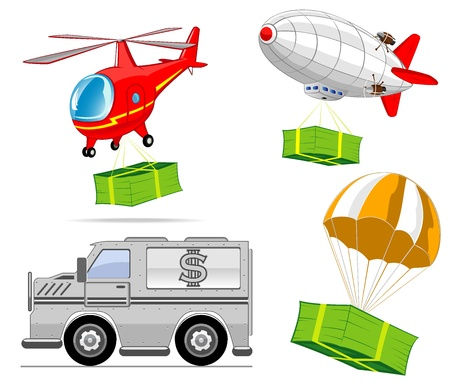 delivery of money  illustration Vector