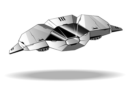 interceptor: illustration of futuristic spaceship.