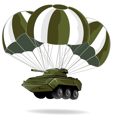 delivery of military vehicle Vector