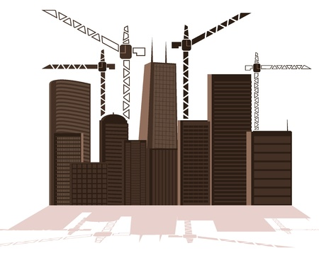 Illustration of a large city under construction. vector illustration Stock Vector - 16006697