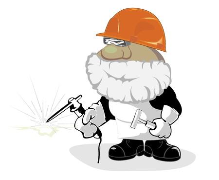 worker cartoon: dibujos animados de los trabajadores. ilustraci�n vectorial