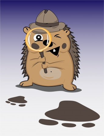 hedgehog detective Stock Vector - 16412755