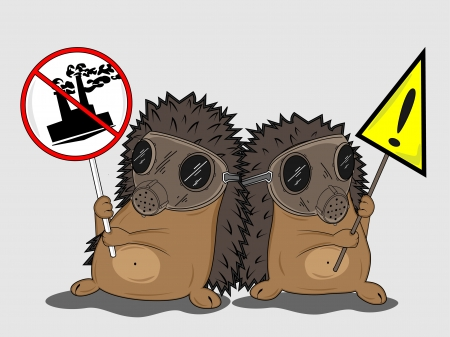 protesting hedgehogs