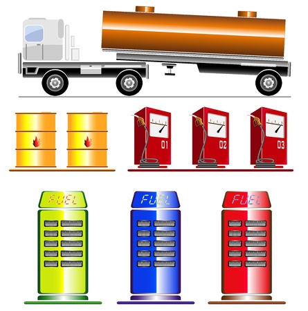 gas station images  vector illustration Stock Vector - 16412762