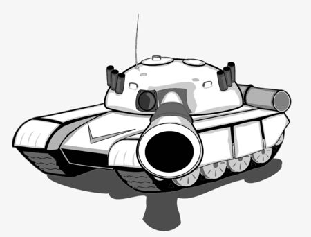 war tank: Tank ilustraci�n vectorial