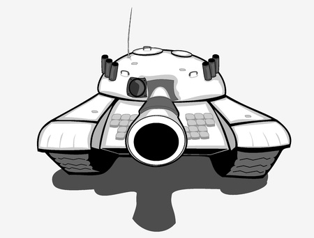 machine gun: vector aiming tank Illustration