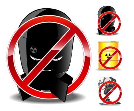 havoc: vector illustration of forbidding signs