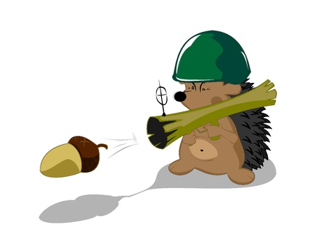 male animal: hedgehog forest hero Illustration